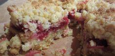 Raspberry-Almond-Cornmeal crumble bars