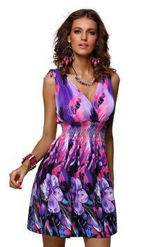 Krátké letní šaty – fialové http://www.amodio.cz/produkt/kratke-letni-saty-fialove/