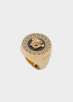 Mens Gold Jewelry, Mens Gold Rings, Men's Fashion Jewelry, Fashion Rings, Versace Jewelry, Jewellery, Men's Jewelry, Versace Men, Versace Ring Mens