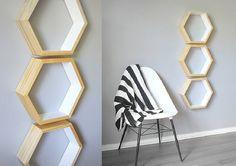 3 LARGE Hexagon Shelves . Hexagon Honeycomb by GeometricHome, $89.00