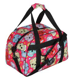 For Life-on-the-go, Tikiboo Bright And Bold Kit Bag Is Roomy And Strong. In The Fab Pink Mexican Skulls Design, It Features Colourful Sugar Skulls, Flowers, Hearts And Tikiboo Sports Logo On A Hot Pink Base. Mexican Skulls, Skull Design, Sugar Skulls, Sports Logo, Gym Bag, Trainers, Hot Pink, Water Bottle, Towel