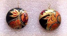 #orecchini dipinti a mano#orecchini dipinti#bijoux dipinti a mano#bijoux dipinti#accessori dipinti#accessori dipinti a mano#bijoux in legno#bijoux artigianali#
