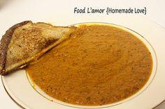 Creamy Sun-Dried Tomato & Basil Soup   Food L'amor   Homemade Food   Homemade Love