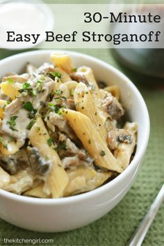 Make your own lean, Beef Stroganoff in 30 minutes with an easy ...