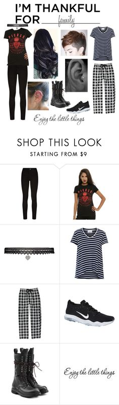 """""""Family"""" by ballerinahippie on Polyvore featuring Paige Denim, Hot Topic, Betsey Johnson, Geoffrey Beene, NIKE, Rick Owens and plus size clothing"""