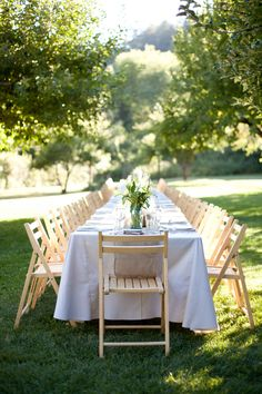 Beautiful outdoor reception at orchard  #wedding #outdoors #rustic