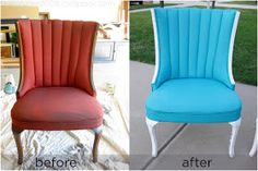 Team Fuller: Painted Fabric Chairs