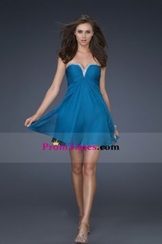 2012 Homecoming Dresses Short/Mini Strapless A Line Chiffon USD 119.99 PTP618CA8Y - PromTimes.com for mobile