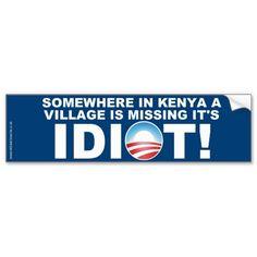 Somewhere In Kenya Bumper Sticker