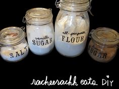 Hand painted labels using glass paint
