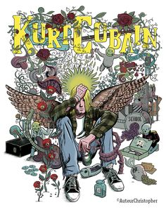 For everything Nirvana check out Iomoio Kurt Cobain Art, Nirvana Kurt Cobain, Nirvana Art, Nirvana Tattoo, Nirvana Lyrics, Typographie Inspiration, Rock Band Posters, Canson, Power Pop