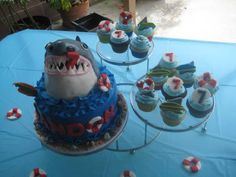 Shark Party Cake from Bite Sized Chef