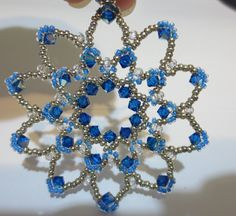 Bead and crystal snowflake ornament .. $12.00, via Etsy.