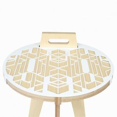 The Carry Table from Leg Studios is a beautifull combination of minimally used wood, and the aesthetics of geometric patterns inspired from Ndelebe geometry  Credit: Leg Studios