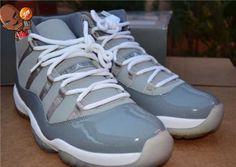 34f0599547ff35 Air Jordan 11 Cool Grey Basketball Shoes