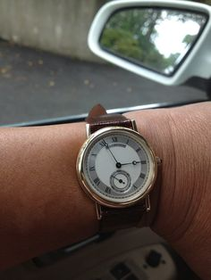 Our Facebook friend Tina S. received this timepiece for her 25th Anniversary. Congratulations to her! Have you ever received a timepiece as a gift? Tell us with #TourneauKnows and you might see your wristshot featured here!