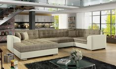 Kasalinea Canapé d& convertible marron jacob 3 Canapé Convertible Design, Canapé Angle Convertible, Outdoor Sectional, Sectional Sofa, Couch, Sofas, Canapé Design, Lounge, Canapes