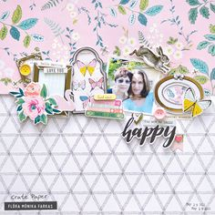 Secret Garden scrapbook layout made with Maggie Holmes Chasing Dreams collection Scrapbook Sketches, Scrapbook Page Layouts, Scrapbook Pages, Scrapbooking Ideas, Digital Scrapbooking, Baby Scrapbook, Scrapbook Paper Crafts, Paper Crafting, Smash Book Pages