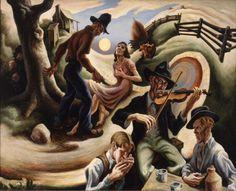 POUL WEBB ART BLOG: Thomas Hart Benton - part 1  Kenmerken Sociaal Realisme: - Gericht op een maatschappelijk probleem - Gericht op mens en natuur - Realistisch geschilderd