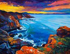 Ocean Painting - Ocean And Cliffs By Ivailo Nikolov by Boyan Dimitrov #OilPaintingOcean