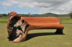 jeff rouitto ~ cedar stump bench