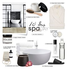 """""""10 Step Spa Day"""" by barngirl ❤ liked on Polyvore featuring beauty, Post-It, Fig+Yarrow, CB2, Aquis, H&M, Dot & Bo, Frette, Balmain and Urban Spa"""