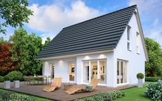 Einfamilienhaus mit Erker - Fertighaus SH 124 Variante A ScanHaus Marlow Pole Barn House Plans, Pole Barn Homes, House Floor Plans, Town Country Haus, Living Haus, Compact House, Architecture Design, House Design, Flooring