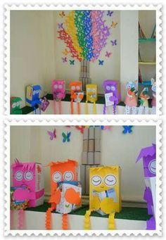 Classroom Board, Preschool Classroom, Kindergarten Activities, Classroom Activities, Preschool Crafts, Classroom Decor, Class Decoration, School Decorations, Craft Stick Crafts