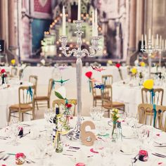 Almost everything you see in this colourful wedding was made by the Bride, Groom and their friends and family!!