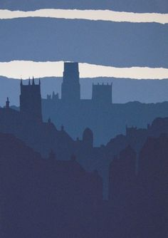 Simple but strong. A screenprint of Durham, UK, by Ian Scott Massie