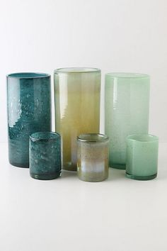 Recycled glass.