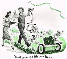 """""""You'll love the life you lead!"""" """"So much mowing pleasure for so little money."""" Oh Yeah? Bullshit! And you might want to keep Junior and Rover away from the dangerously spinning blades of death… I'm..."""