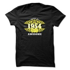 1954-60 years of being awesome-YELLOW-Sun T-Shirts, Hoodies (22.99$ ==► Order Here!)