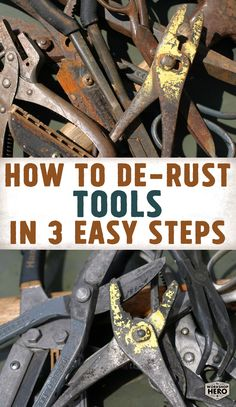 Remove rust from tools clean, safe and easy with Metal Rescue Rust Remover Bath! Simply soak, check and dry! Watch our video and learn how to remove rust from your own rusty tools! Antique Woodworking Tools, Antique Tools, Old Tools, Vintage Tools, Woodworking Bench, Woodworking Projects, How To Clean Rust, How To Remove Rust, Removing Rust