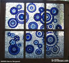 mosiacs in old windows   Found on artofmosaic.com