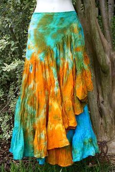 Dancing Nights Tie Dye Swirling Wrap Skirt ($37)
