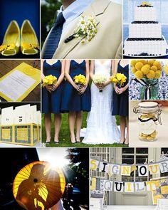 Navy and Dark Yellow wedding
