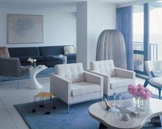 "A Lake Michigan condo in Wilmette, Illinois, by Fern Simon and Eric Ceputis, from ""Metropolitan Home: Design 100,"" photograph by Nathan Kirkman"