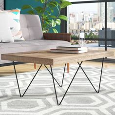 New Coffee Table by Ivy Bronx. Coffee Table Rectangle, Lift Top Coffee Table, Coffee Table With Storage, Living Room Furniture, Home Furniture, Living Room Decor, Table Furniture, Furniture Ideas, Contemporary Coffee Table