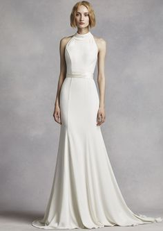 High Neck Halter Wedding Dress  - Keep Up With the Kardashians with a High Neck…