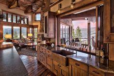 Nice 40 Inspiring Rustic Farmhouse Kitchen Cabinets Remodel Ideas https://homeylife.com/40-inspiring-rustic-farmhouse-kitchen-cabinets-remodel-ideas/
