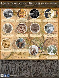 Los 12 trabajos de Hércules en un Mapa | El Reto Histórico