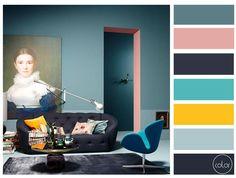Quando a genialidade entra em cena. Ousar e sair do esperado gera memoráveis e grandiosos resultados. - Quem conhecer o autor por favor nos avise. -------- When a genius design a room!  #paletadecor #colorpalette #interiorcolors #interiordesign #interiordecor #homedecor #homedesign #decor #homeinspiration #decoration #archicolors #inspired #paletadecores #architecture #archidesign by colorpalett