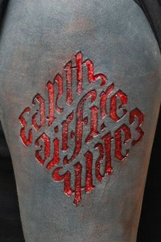typography + scarification  yeah ok it hurts to look at. you're welcome