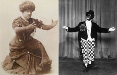 Sophie Tucker made up 'high yellow' and Josephine Baker made up in 'burnt cork', early Great Aunt, Josephine Baker, Cork, Victorian, Yellow, Dresses, Fashion, Gowns, Moda