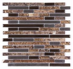 All Marble Mosaic Glass and Stone blend Random Strip 12 x 12 Mosaic Tile Mag-4437-ST from http://AllMarbleTiles.com