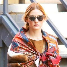 Of Course Olivia Palermo Found a New Way to Tie a Scarf  #InStyle