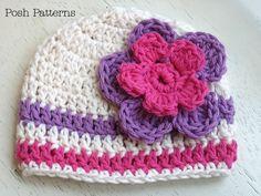Crochet Hat PATTERN - Easy Beanie Crochet Pattern - Instant Download PDF 115 - Newborn to Adult - Photography Prop Pattern