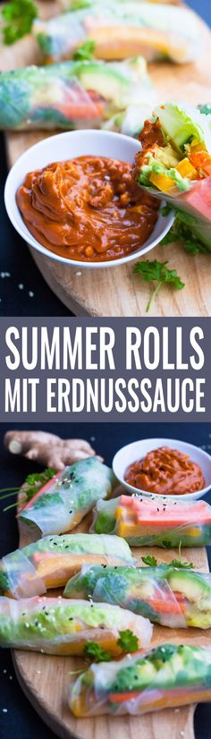 Summer Rolls mit Erdnusssauce