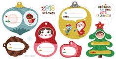 Printable Christmas gift tags | How About Orange